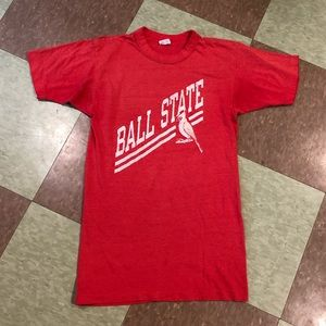 Vtg 80s champion ball state cardinal T-shirt md